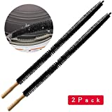 Dryer Vent Cleaner Kit Brush-2 Pack Clothes Lint Trap 30 Inch Long Flexible Pipe Refrigerator Coil...