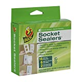 Duck Brand Socket Sealers Variety Pack, 16 Outlet Sealers and 6 Switch Plates, 2 Decorative Covers,...