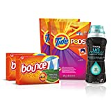 Tide Amazing Laundry Bundle (68 Loads): Tide PODS Laundry Detergent, Bounce Dryer Sheets and Downy...