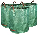 Gardzen 3-Pack 72 Gallons Garden Bag - Reuseable Heavy Duty Gardening Bags, Lawn Pool Garden Leaf...