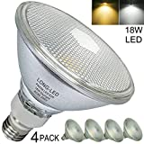 PAR38 LED Flood Light Bulb,Glassic Glass,Indoor/Outdoor,18W(=70W-150W PAR38 Halogen Bulb Equivalent)...