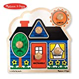 Melissa & Doug First Shapes Jumbo Knob Puzzle (Colorful Artwork, Extra-Thick Wooden Construction, 5...