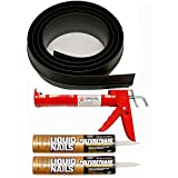 Tsunami Seal 53016 Lifetime Garage Door Threshold Seal Kit - 16 Foot, Black (Various Sizes...