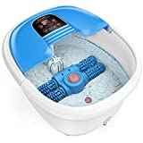 Arealer Foot Spa Bath Massager with Automatic Foot Massage Rollers & Temperature Control & Bubbles...