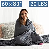 Dapper Display Weighted Blanket 20 LBS Queen Size Anxiety Relief Thick Heavy Weight Calming Blankets...