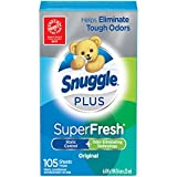Snuggle Plus Super Fresh Fabric Softener Dryer Sheets with Static Control and Odor Eliminating...