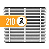 Aprilaire 210 Air Filter for Aprilaire Whole Home Air Purifiers, MERV 11 (Pack of 2)