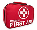 Swiss Safe 2-in-1 First Aid Kit (120 Piece) + Bonus 32-Piece Mini First Aid Kit: Compact,...