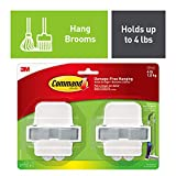 Command Broom & Mop Grippers, Holds up to 4 lbs, Decorate Damage-Free (17007-HW2ES)