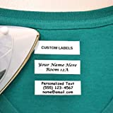 Galloo 100 Pre-Cut Iron On Personalized Clothing Name Labels/Tags for Nursing Homes, Camp, College,...
