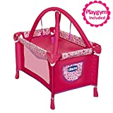 Baby Doll Playard Converts to Baby Doll Playmat, Baby Playpen with Mobile Included, Forup To 18'...