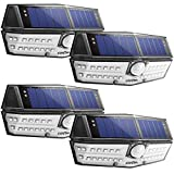 LITOM Premium Solar Lights Outdoor with 270°Wide Angle Illumination(4 Pack), IP67 Waterproof...