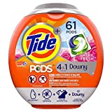 Tide PODS Plus Downy 4 in 1 HE Turbo Laundry Detergent Pacs, April Fresh Scent, 61 Count Tub -...