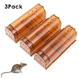 HUX EYE Humane Mouse Trap, Catch and Release Rodent Trap, No Kill Mice Catcher, Environmentally...