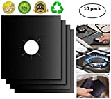 XZSUN Gas Stove Burner Covers 10 Pack 0.2mm Double Thickness Reusable Gas Range Protectors for...