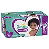 Diapers Size 6, 108 Count - Pampers Cruisers Disposable Baby Diapers, ONE MONTH SUPPLY (Packaging...