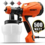 REXBETI Ultimate-750 Paint Sprayer, 500 Watt High Power HVLP Home Electric Spray Gun, 3 Nozzle...