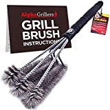 Alpha Grillers 18' Grill Brush. Best BBQ Cleaner. Safe for All Grills. Durable & Effective....