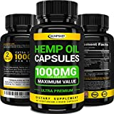 Hemp Oil Capsules - 1000 MG of Pure Hemp Extract per Serving - Pain, Stress & Anxiety Relief -...