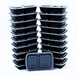 BlacWare 150 Meal Prep 2 Compartment Food Storage Containers Durable BPA Free Plastic Reusable...