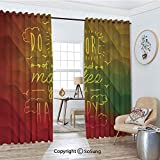 Blackout Window Curtains,Do More of What Makes You Happy Hand Written Quote Encourage Digital...