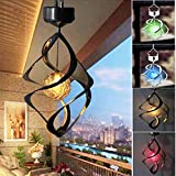 AMWGIMI Hanging Solar Lights Outdoor Wind Chimes Lights LED Colour Changing Hanging Light Waterproof...