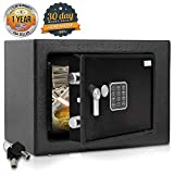 Home Security Electronic Lock Box - Safe with Mechanical Override, Digital Combination Lock Safe,...