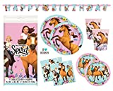 Spirit Riding Free Horse Birthday Party Supplies Set - Plates, Cups, Napkins, Tablecloth, Banner...