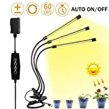 LED Grow Light for Indoor Plant,Elaine 30W LED Auto ON/Off Timer Full Spectrum Plant Lights 3/6/12H...