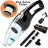 Attom Tech Cordless Handheld Vacuum Cleaner Rechargable 120W Strong Suction Car Cleaner Wet and Dry...