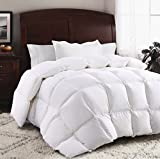 ROSECOSE Luxurious Goose Down Comforter King Size Duvet Insert All Seasons Solid White...