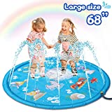 HOMOFY Large 68' Splash Pad Outdoor Toys for Kids,Sprinkler Water Toys for 2 3 4 5 Years Old Boys...