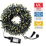 HYH Christmas String Lights 105Ft 300 LEDs with UL Certified End-to-End Expandable Plug, 8 Modes...