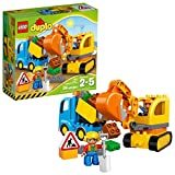 LEGO DUPLO Town Truck & Tracked Excavator 10812  Dump Truck and Excavator Kids Construction Toy with...
