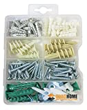 Qualihome Drywall and Hollow-wall Anchor Assortment Kit, Anchors, Screws, Wall Anchor Hooks, and...