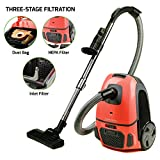 Ovente Electric Vacuum, 3-Stage Filtration with Hepa Filter, Energy-SAVING Speed Control, 1400W,...