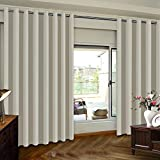 Extra Wide Patio Door Curtains Thermal Insulated Blackout Patio Curtains, Sliding Door Insulated...