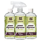Grab Green Naturally-Derived, Non-Toxic, Biodegradable Power Degreaser, Residue & Streak-Free...