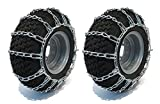 The ROP Shop 2 Link TIRE Chains 20x10.00x8 20x10.00-8 20x10x8 for Tractor Rider Snowblower
