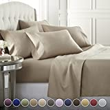 6 Piece Hotel Luxury Soft 1800 Series Premium Bed Sheets Set, Deep Pockets, Hypoallergenic, Wrinkle...
