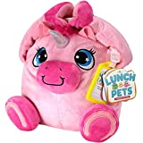 Lunch Pets Insulated Kids Lunch Box - As Seen on TV Plush Animal and Lunch Box Combination -...