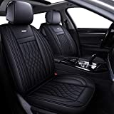 LUCKYMAN CLUB 5 Car Seat Covers Full Set with Waterproof Leather Universal for Sedan SUV Truck Fit...