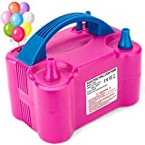 MESHA Portable Dual Nozzle Red Rose Electric Air Balloon Pump Filler rInflator/Blower for Party...