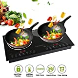 Trighteach Induction Cooktop, 2400W Double Countertop Burner(2 Separate Heating Zones) with Digital...