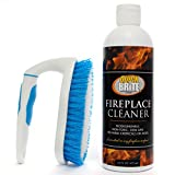 Fireplace Cleaner Kit by Quick 'n Brite, 16 oz - Brick soot and Smoke Cleaning; Includes Free Brush;...