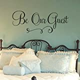 BATTOO Be Our Guest Wall Decal Guest Bedroom Decal Wedding Decal Vinyl Decal Bedroom Decal Guest...