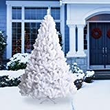 Goplus Artificial Christmas Tree Xmas Pine Tree with Solid Metal Legs Perfect for Indoor and Outdoor...