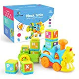 Gizmovine Train Toys, Toddler Boy Toys Train with Letter Block Set, Music Train Set, Helps Toddlers...
