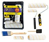 Bates Paint Roller - Paint Brush, Paint Tray, Roller Paint Brush, 9 Piece Home Painting Supplies,...