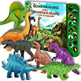 Li'l Gen Dinosaur Toys for Boys and Girls 3 Years Old & Up - Realistic Looking 7' Dinosaurs, Pack of...